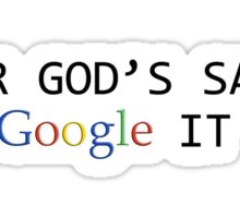 Google it Grrr! (black) Sticker