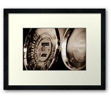 Classic Speedometer Framed Print