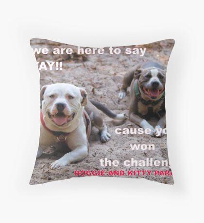 YOU WON! Throw Pillow