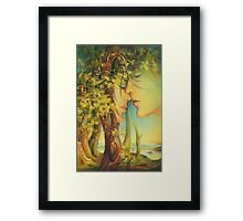 """ An Encounter at the Edge of the Forest"" - postcard & greeting card Framed Print"