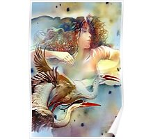 """""""Dancing with Birds"""" - - postcard & greeting card Poster"""
