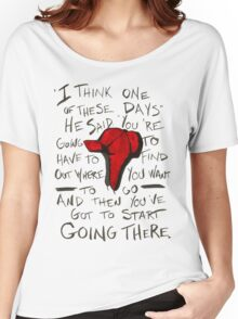 The Catcher in the Rye - Holden's Red Hunting Cap Women's Relaxed Fit T-Shirt