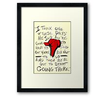 The Catcher in the Rye - Holden's Red Hunting Cap Framed Print