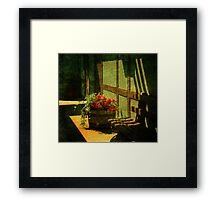 Sunny Corner Framed Print