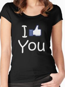 I Like you. Women's Fitted Scoop T-Shirt