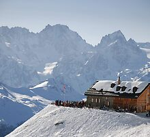 Cabane du Mont Fort, Verbier, Switzerland by Catherine Ames