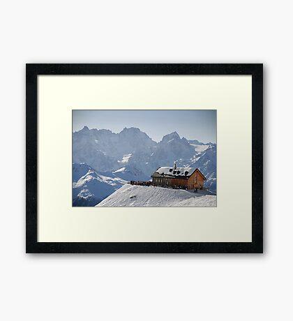 Cabane du Mont Fort, Verbier, Switzerland Framed Print
