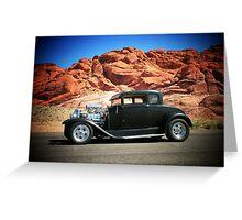 1929 Model-A/ Red Rock Las Vegas! Greeting Card