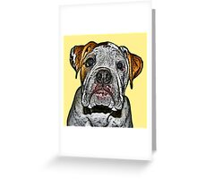Frank On Yellow Greeting Card