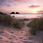 Holywell Sunset by Adrian Hall
