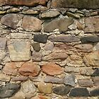 Stone Wall, Bamburgh, Northumberland by Peter Telford