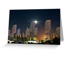 Festival Moonrise Greeting Card