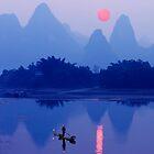 LI RIVER SUNSET - CHINA by Michael Sheridan
