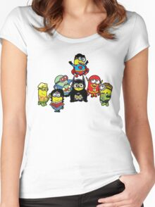 Justice League of Minions Women's Fitted Scoop T-Shirt