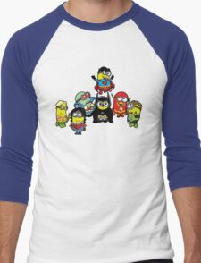 Justice League of Minions Men's Baseball ¾ T-Shirt