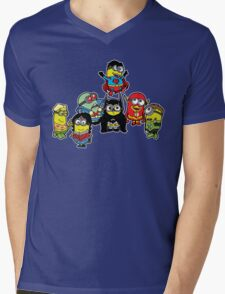 Justice League of Minions Mens V-Neck T-Shirt