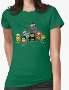 Justice League of Minions Womens Fitted T-Shirt