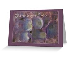 Nostalgic blues - card Greeting Card