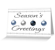 Plain Simple Season's Greeting Card With Baubles Greeting Card