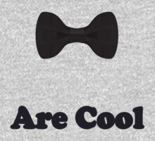 Black Bow Ties Are Cool T-Shirt Clothing Sticker One Piece - Short Sleeve