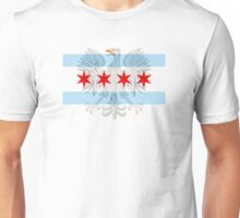 Polish Eagle Chicago Flag Unisex T-Shirt