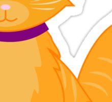 Orange and Ginger Cat Sticker
