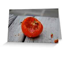 Tomato Bite Greeting Card
