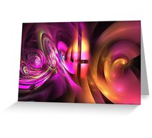 Curling tubes and swirls Greeting Card