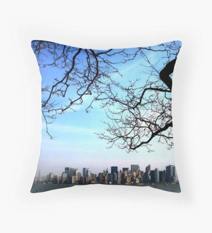 Manhattan from Liberty Island Throw Pillow