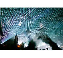 Lasers @ Glastonbury 2010 Photographic Print