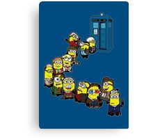 Doc Minion Line Up Canvas Print