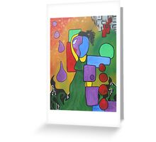 Purple Droppers Greeting Card