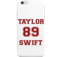 TAYLOR 89 SWIFT RED iPhone Case/Skin