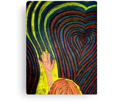 Waving, goodbye as she follows her heart.  Canvas Print