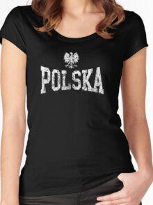 Vintage Polska Eagle Women's Fitted Scoop T-Shirt