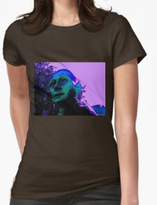 Hugo, Man of a Thousand Faces, Pinkened Womens Fitted T-Shirt