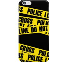 Police Line  iPhone Case/Skin