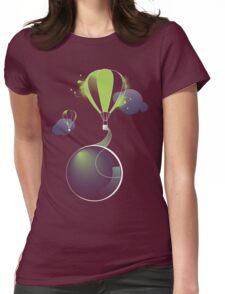 Hot Air Balloon Tee Womens Fitted T-Shirt