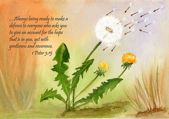 Blown in the wind - 1 Peter 3:15 by Diane Hall
