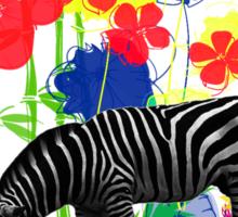 Zebra. Sticker