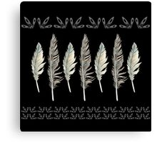 Dark & Stormy Feather Formation Canvas Print