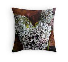 Lichen Vee Throw Pillow