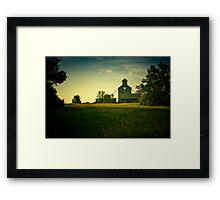 """Venturia Elevator"" - Venturia, North Dakota Framed Print"