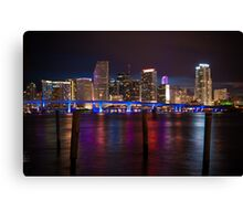 Miami Blue Bridge  Canvas Print