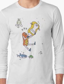 Kate's Poster - The Hotdog and the Mustard Long Sleeve T-Shirt