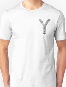 'Y' Patterned Monogram T-Shirt