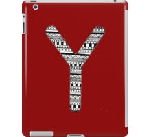 'Y' Patterned Monogram iPad Case/Skin