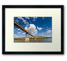 A Bridge over the Peace River Framed Print