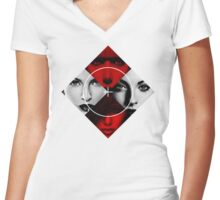 Bad Girls - Poker Face Women's Fitted V-Neck T-Shirt