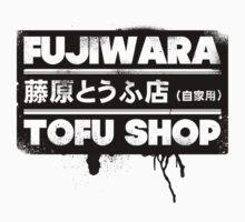 Initial D - Fujiwara Tofu Shop Tee (Black Box) One Piece - Long Sleeve